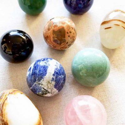 esferas piedras semipreciosas