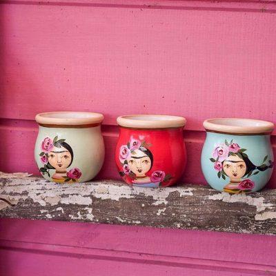Mate de ceramica Frida