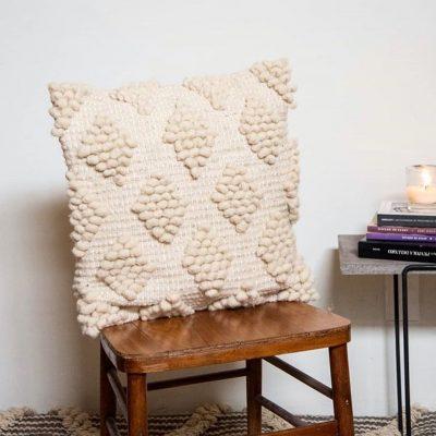 Almohadón Rombos de lana