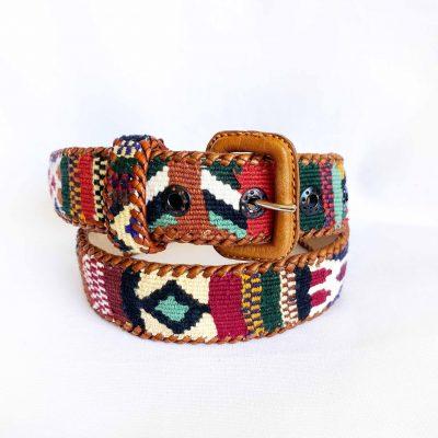 cinturon maya multicolor tierra