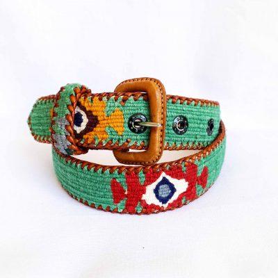 cinturon maya verde
